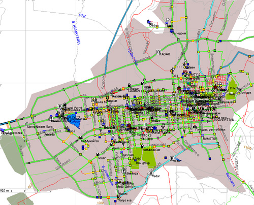Карта Алматы - Улицы города