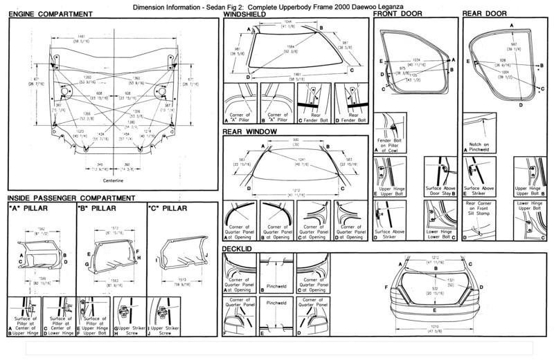 Контрольные точки кузова ниссан 123