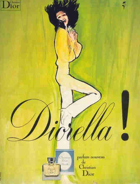 Парфюм дня - Diorella Dior, винтажная туалетка