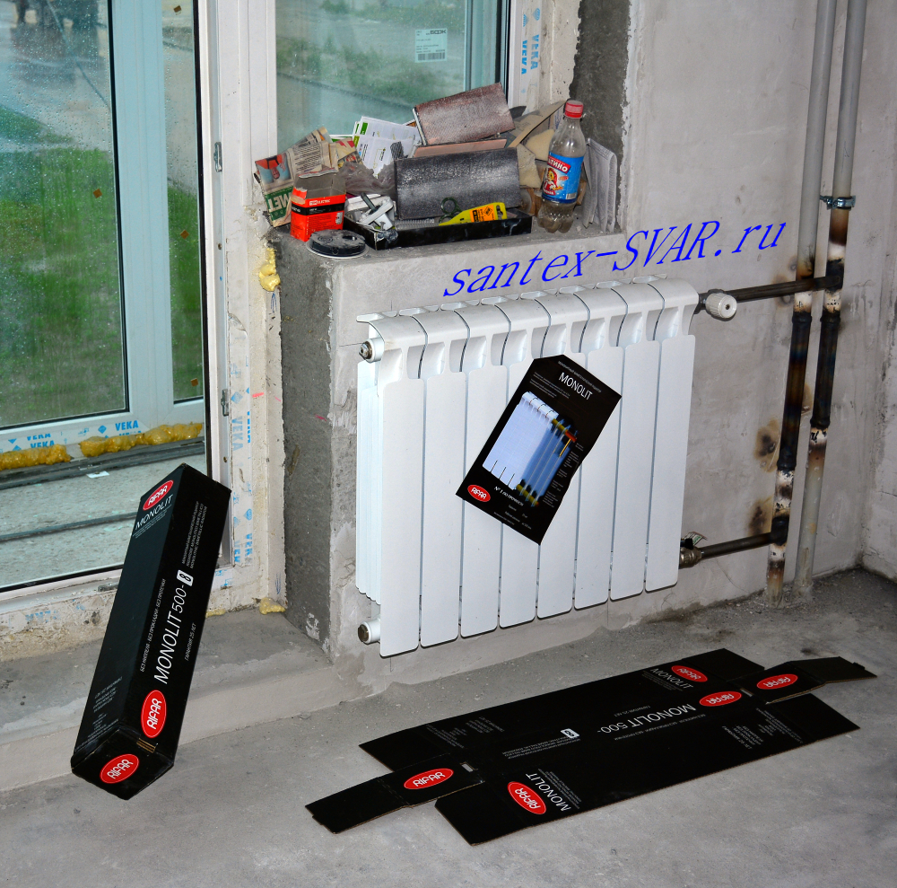 Реклама в яндекс директ : монтаж радиатора отопления.