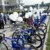 Новые велопарковки в КазНУ, установленные при поддержке компании Самсунг-Электроникс
