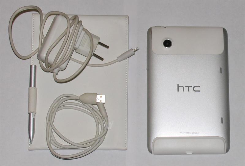 HTC Flyer спиной вверх