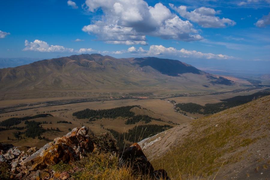 Текес вид с высоты 3230 метров