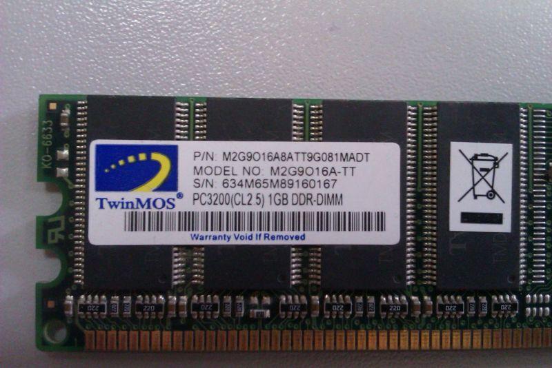 DDR1(400MHz)1Gb TwinMos