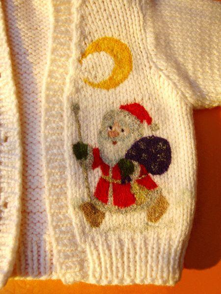 """Детский вязаный жакетик из подарочного комплекта """"Новогодняя сказка"""""""