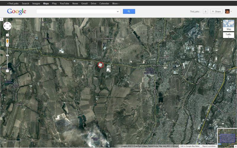 наш офис на карте со спутника