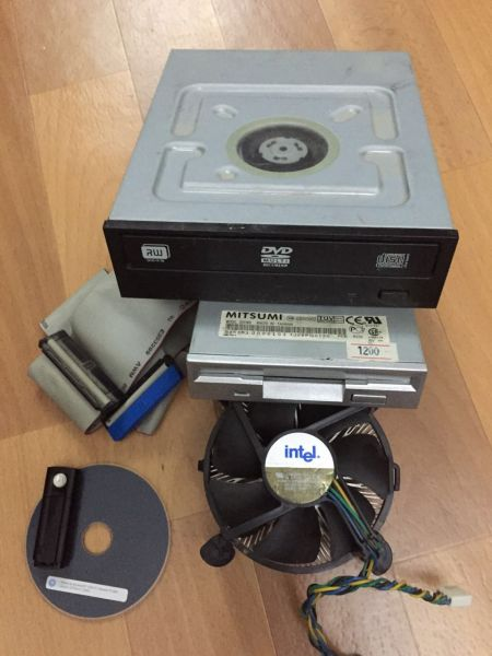 DVD-RW ATA-100, Флоппик, кулер, блютуз адаптер