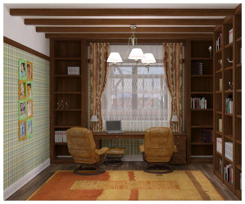 кабинет и зимний сад0030