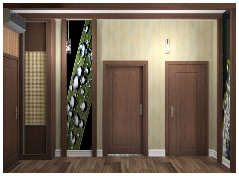 гостиная и прихожая светлые стены узкий шкаф0004