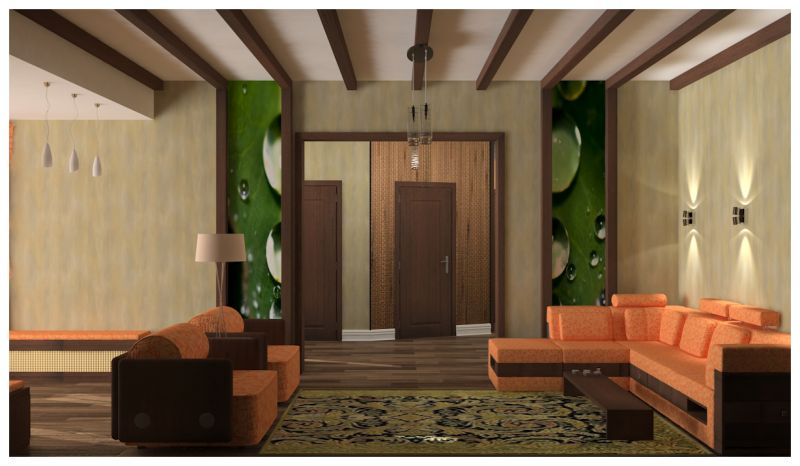 гостиная и прихожая светлые стены0022