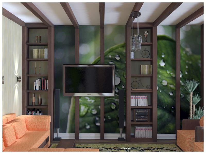 гостиная и прихожая светлые стены0024