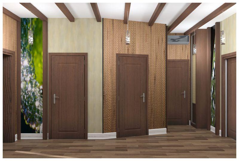 гостиная и прихожая светлые стены узкий шкаф0006