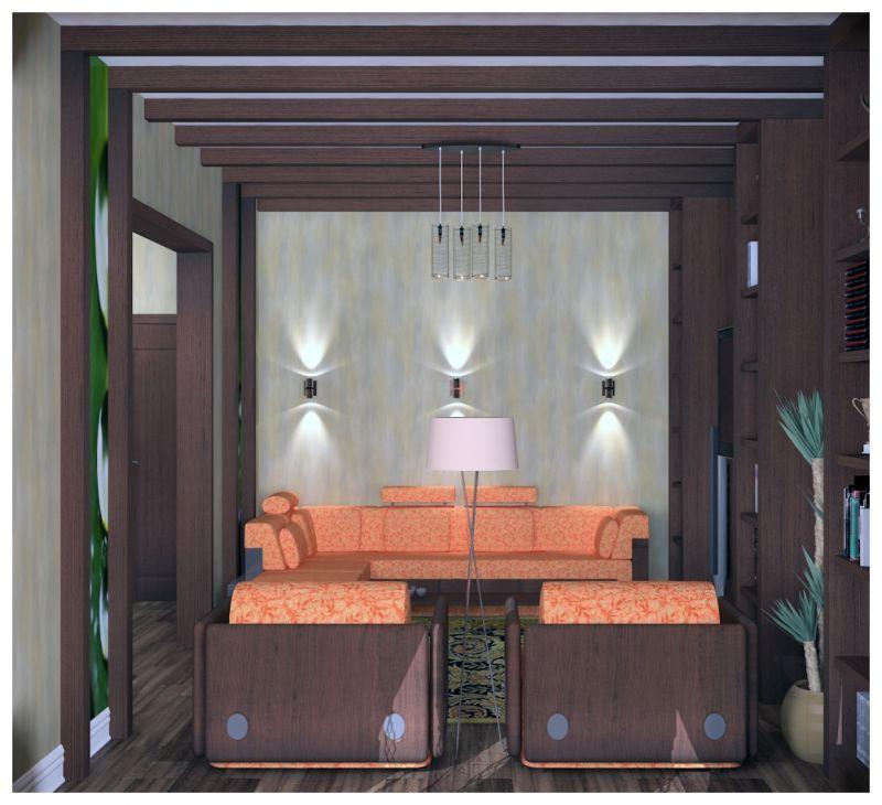 гостиная и прихожая светлые стены0018