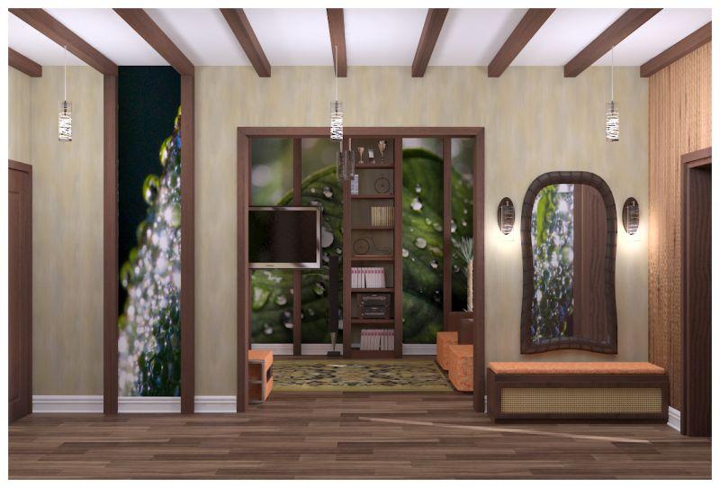гостиная и прихожая светлые стены0002