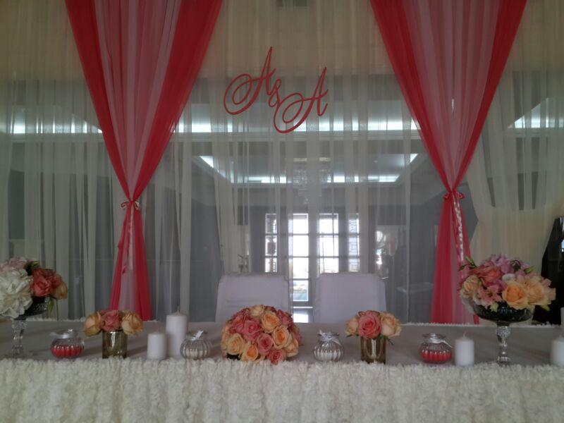 оформление праздничных столов и зала