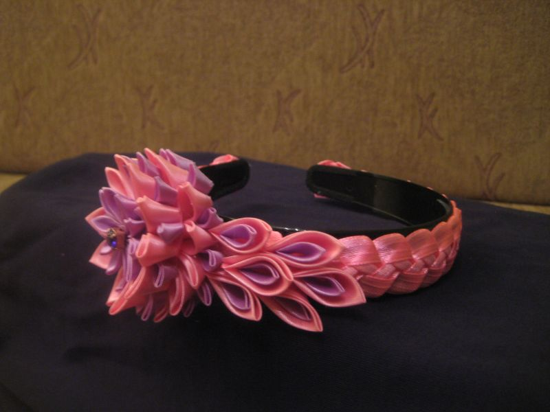 Ободок сиренево-розовый