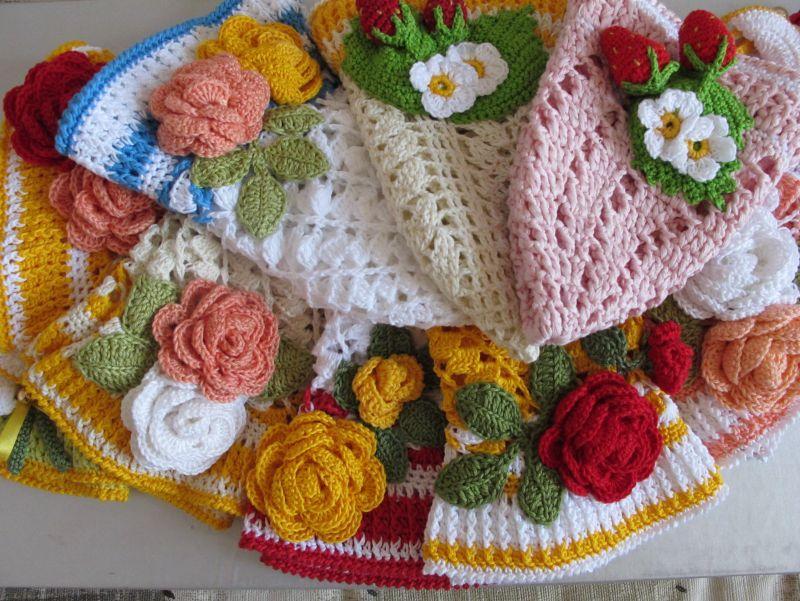 шапочки вязаные летние для девочек