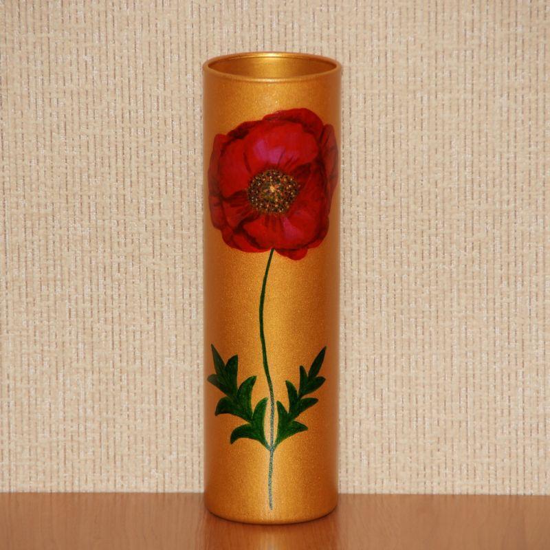 Золотистая цилиндрическая с цветком