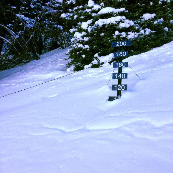 Снежный покров на Елик-сае
