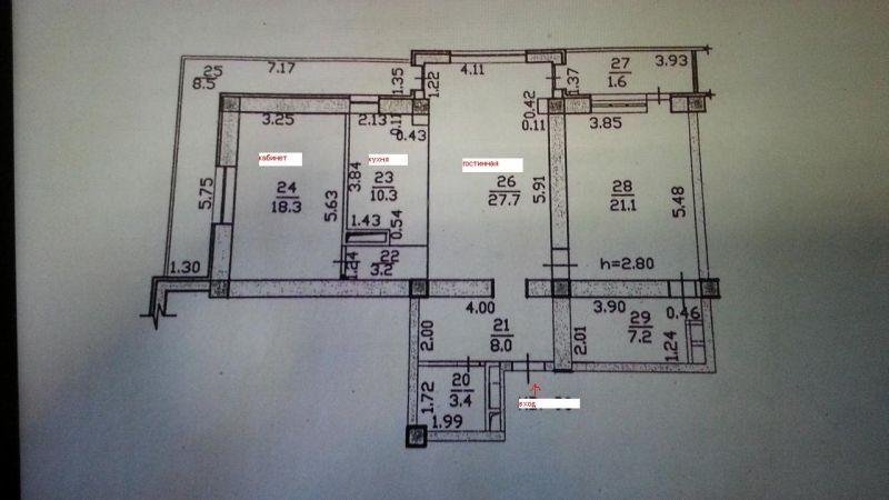 Old план квартиры