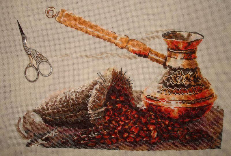 вышивка Запах кофе от Овен