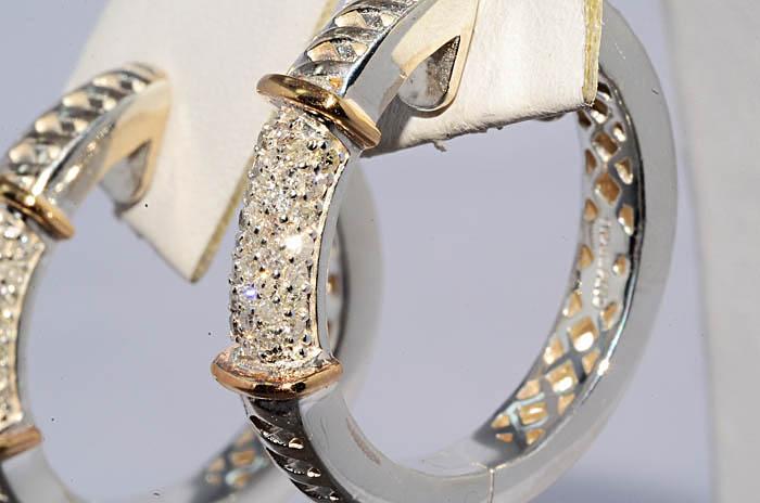 Бел желт бриллианты серьги3