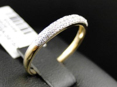 Очень нежное кольцо из желтого золота с бриллиантовой крошкой (В наличии)