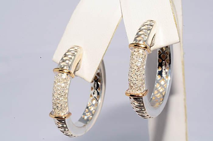 Бел желт бриллианты серьги1