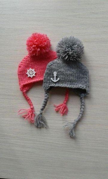Шапочки для кукол Снежка