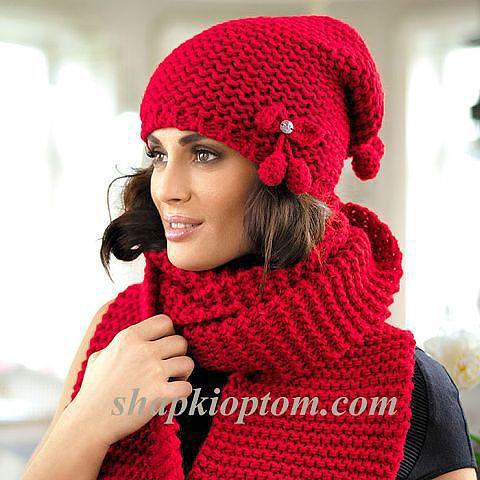 Комплект шапка+шарф.