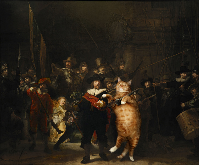 Rembrandt Nightwatch Cat W