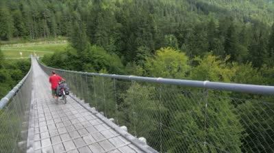 A hanging bridge crossing Ot