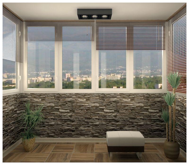 Балкон при естественном освещении 01