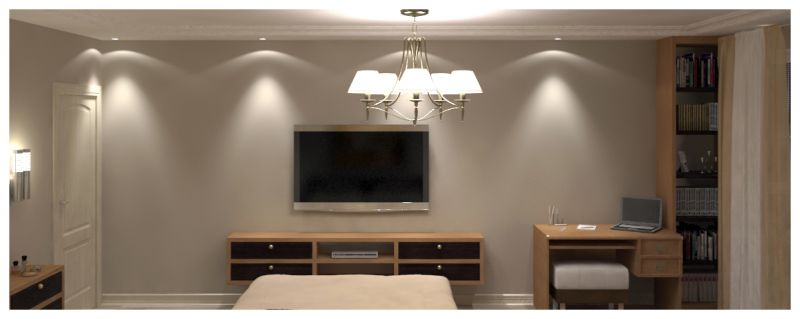 Основная спальня при искусственном освещении 04