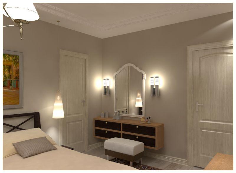 Основная спальня при искусственном освещении 05