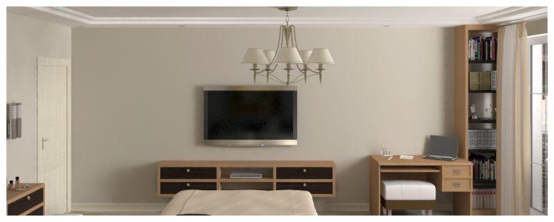 Основная спальня при естественном освещении 04