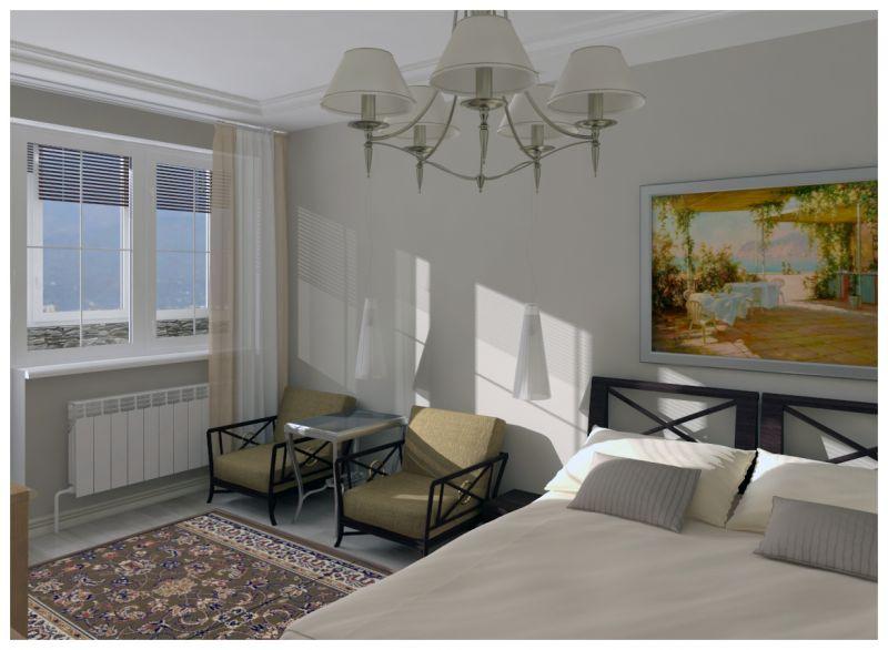 Основная спальня при естественном освещении 06