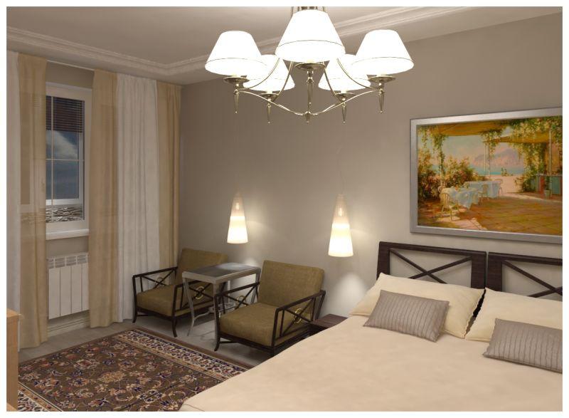 Основная спальня при искусственном освещении 06