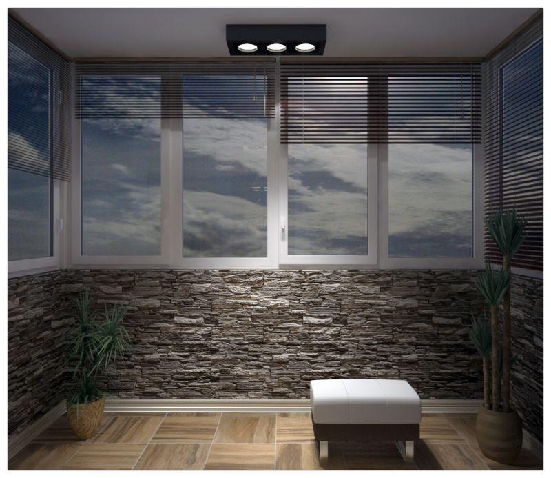 Балкон при искусственном освещении 01