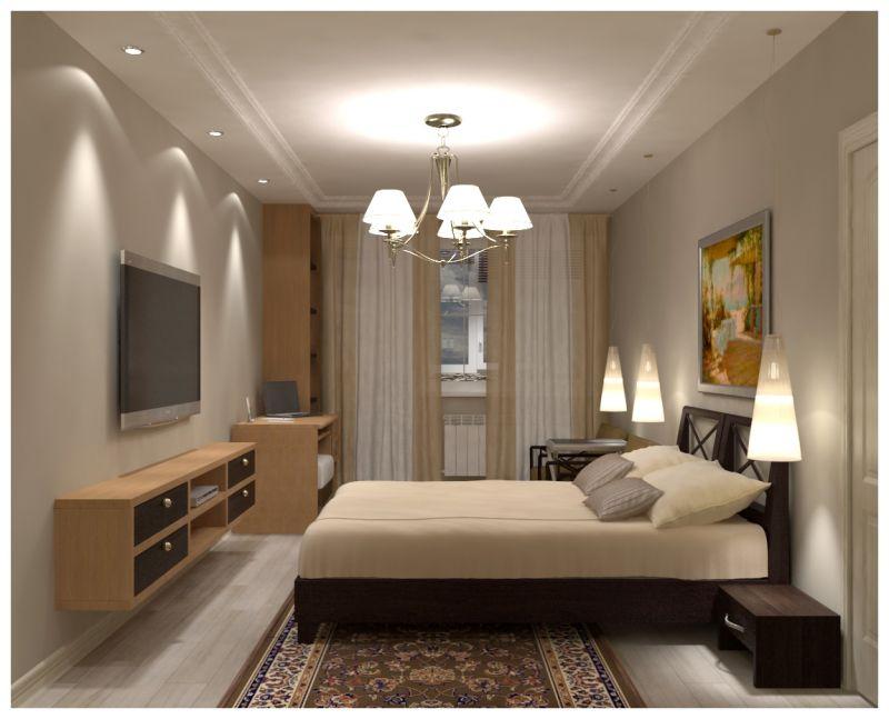 Основная спальня при искусственном освещении 01
