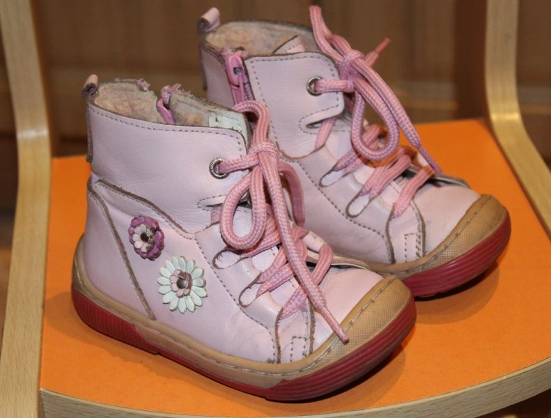 Ботинки зимние с мехом, размер 22