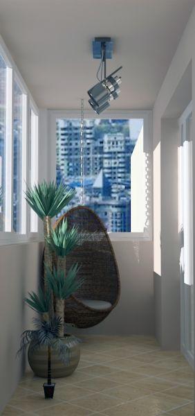 рендер гостиной прихожей балкона 04 12 130046
