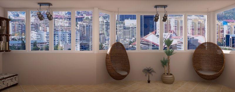 рендер гостиной прихожей балкона 04 12 130038