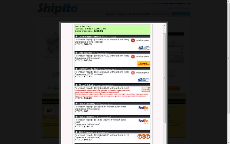 shipito price