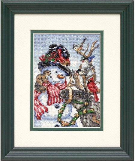 Snowman & Reindeer (Снеговик и олень в упряжке)