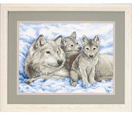"""Mother Wolf and Pups"" (Мать-волчица и волчата)"