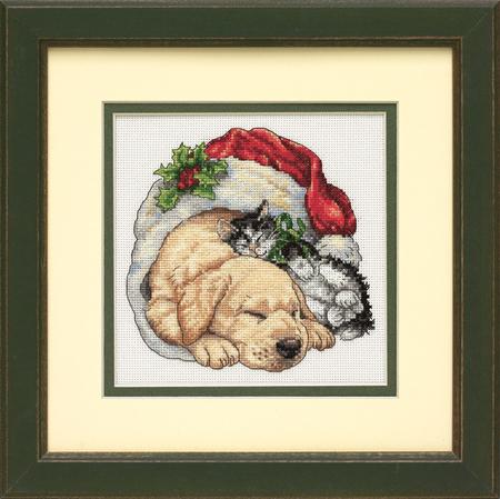 """Christmas Morning Pets """"Щенок и котенок рождественским утром"""""""
