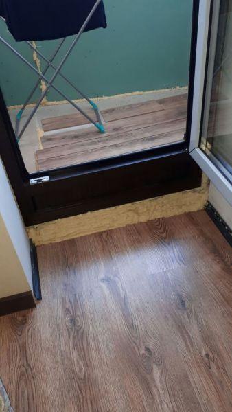 Перегородка между студией и балконом