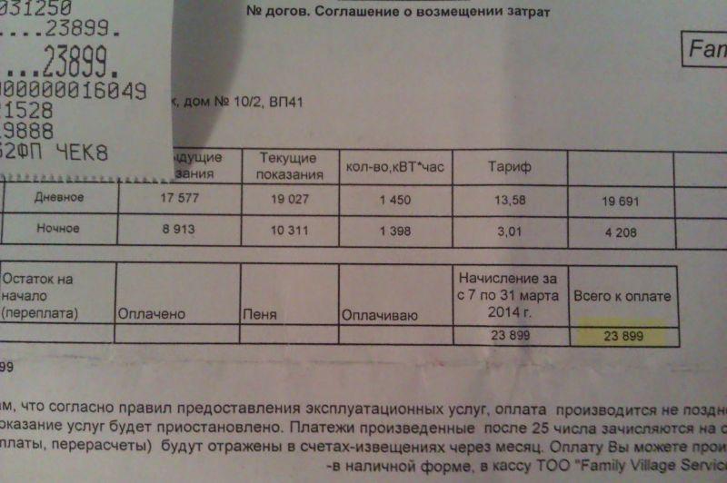 квиток за э-энергию