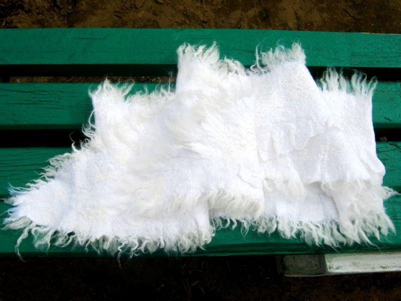 """Войлочный шарф """"Позёмка"""""""